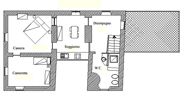 Piantina Appartamento 9